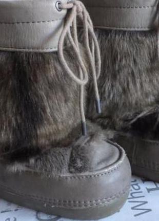 Теплые зимние сноубутсы на меху луноходы зара zara moon boot 24-25 р