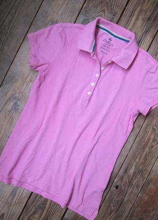 Футболка поло colin's, розовая тенниска, состояние отличное, размер s - m