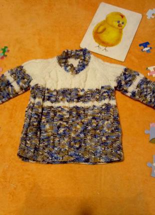 Новый свитер ручной роботы 10-12 месяцев❤️