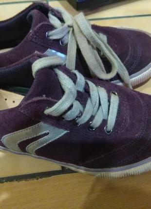 Замшевые кроссовки geox 19.5см