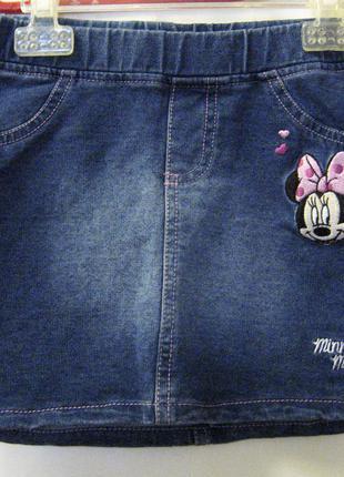 Юбочка джинсовая трикотажная c&a