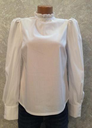 Блуза гольф с рюшами размер 8-10 new look