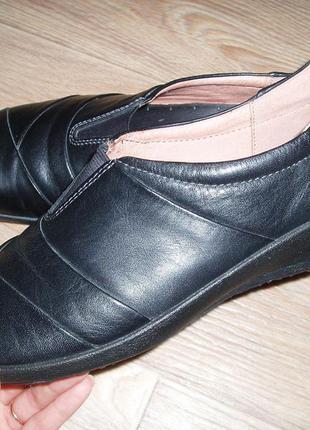 Английские туфли hotter 40 р. стелька 26 см. натуральная кожа