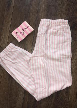 Фланелевые штаны victoria's secret, пижама. размер xs