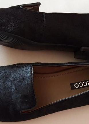 Туфли балетки лофери лордсы ecco кожа размер 37 38 39 40 41, туфлі шкіра