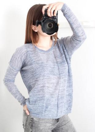 Натуральный свитер, шерсть, брендовая вещ charlotte eskildsen, размер с