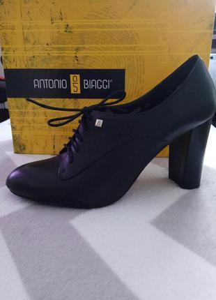 Стильные чёрные туфли antonio biaggi