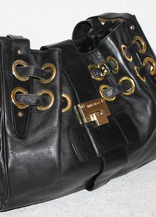 Большая кожаная сумка jimmy choo