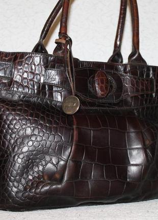 Кожаная сумка furla оригинал