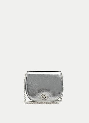 Серебристая сумочка pull&bear
