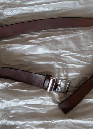Ремень пояс кожаный коричневый marks spencer autograph 84-89 см