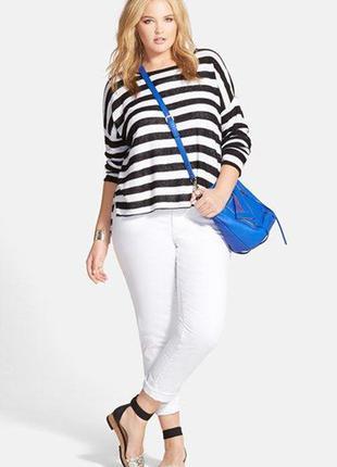 Белые джинсы джеггинсы от отличного бренда kappahl, l-xl