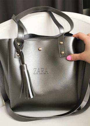 Элегантная и очень стильная женская сумочка zara
