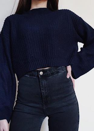 Стильный кроп свитер zara