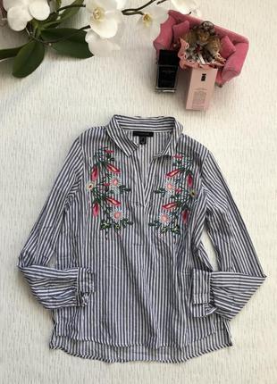 Снизила цену крутая хлопковая рубашка с вышивкой м - размер.