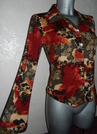 М/40 стильная деловая, нарядная бордовая блуза, блузка в цветах