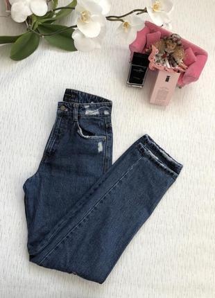 Zara крутые джинсы из плотного джинса  24- размер