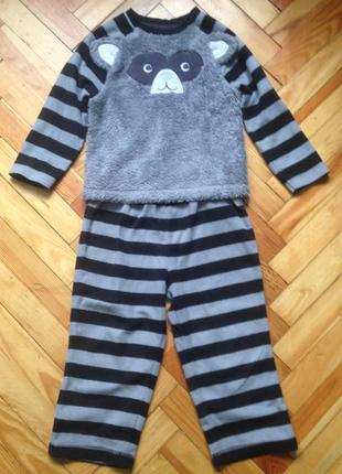 Флисовая пижама george 3-4 года (98-104 см)