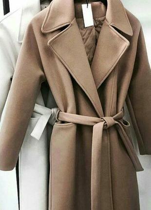 Кашемировое красивое пальто