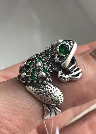 Кольцо серебряное 18,5 размер царевна жабка 1278