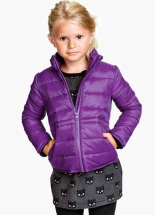 Лиловая деми-курточка для девочки  h&m