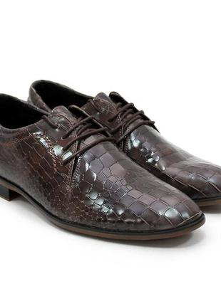 Акция! мега крутые туфли в лаковой коже под крокодила