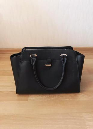 Чёрная повседневная большая сумка с ручками accessorize