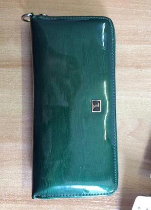 Кожаный кошелёк изумрудного цвета benotti