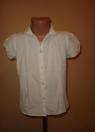 Белая школьная блузка на 7 лет рост 122 см от debenhams