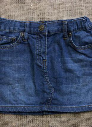 Джинсовая юбка 7-8 лет