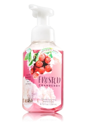 Мыло для рук bbw bath & body works frosted cranberry  creamy luxe hand soap