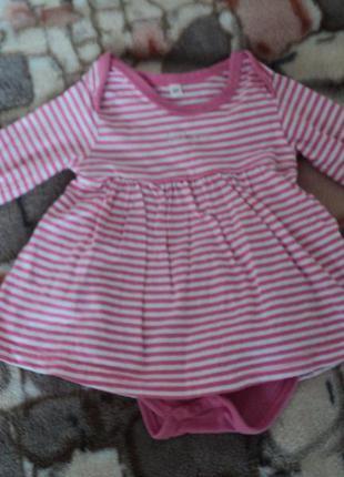 Боди-платье 3-6мес.