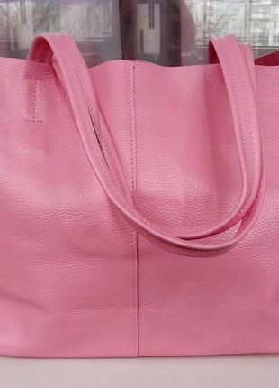 Стильная новая кожаная сумка-шопер domero.