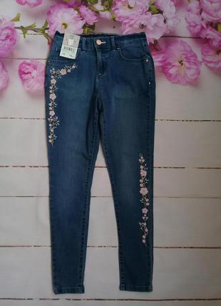 Красивые джинсы на девочку 10-11 лет f&f