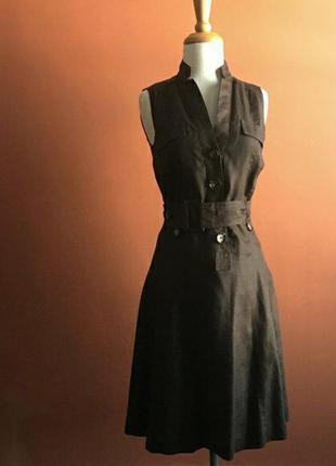 Платье миди екоткань zara