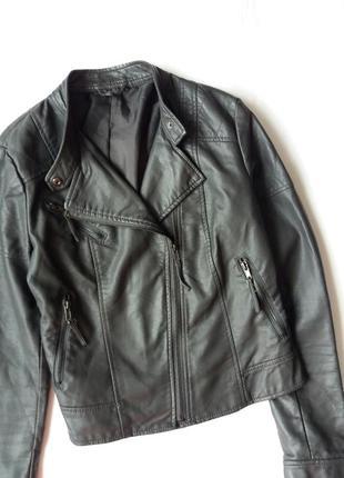 Стильная кожаная куртка косуха f&f 12р
