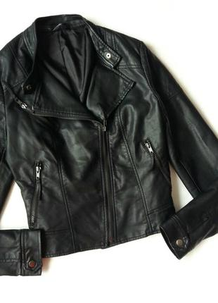 Стильная черная  куртка  косуха f&f 12р