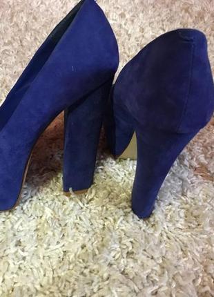 Синие туфли steve madden