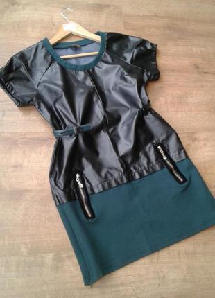 Кожаное платья м-л