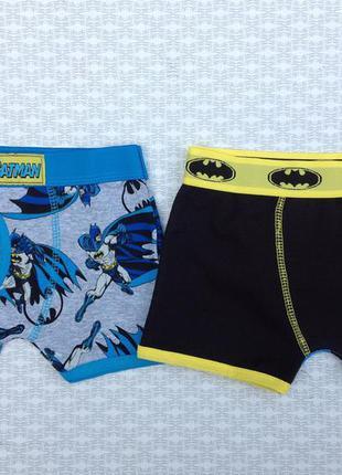 Классные трусики - боксеры для мальчиков комплект 2шт бэтмен primark р.98,104