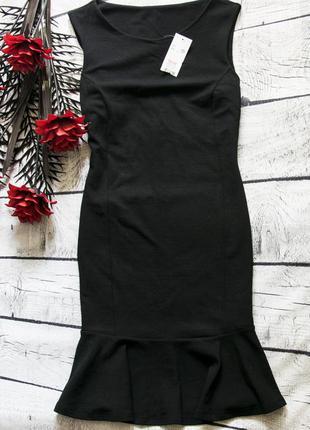 Стильное трикотажное платье f&f