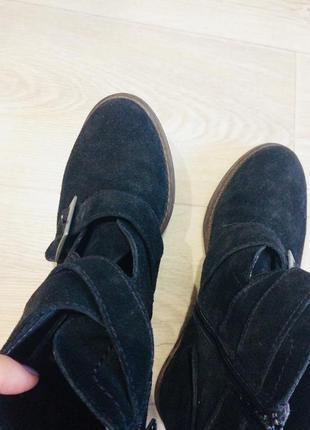 Акция!!!ботинки из натуральной замши
