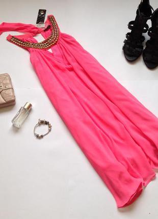 Яркое розовое платье свободного кроя. смотрите мои объявления!