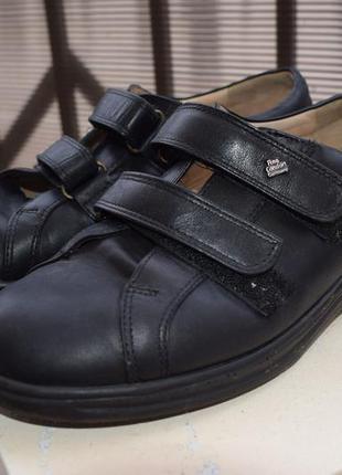 Кожаные ортопедические туфли мокасины finn comfort р.5 1/2 25 см р.38/39