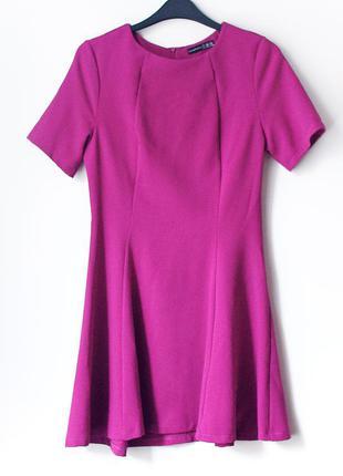 Красивейшее платье цвета фуксии atmosphere с расклешенной юбочкой • s (на грудь 82-87 см)