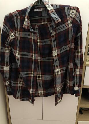 Рубашка в клетку cropp town