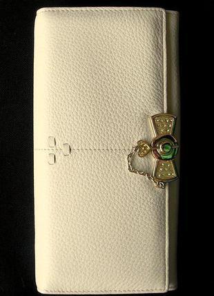 Vip большой кожаный пудровый кошелек, 100% натуральная кожа наппа
