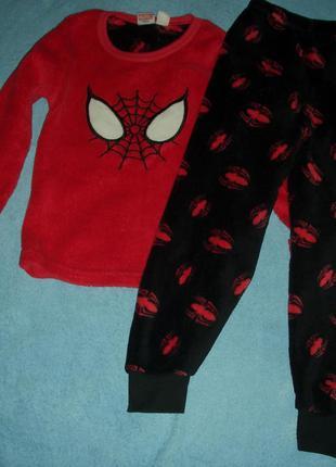 Primark(rebel)пижама-слип флисовая унисекс на возраст от 5-6 лет и рост до 116 см