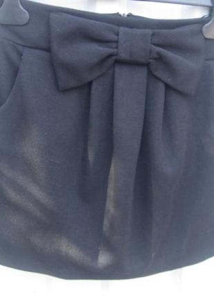 Короткая трикотажная женская мини-юбка черного цвета miss selfridge р.8