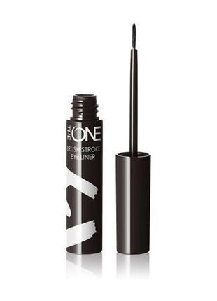 Жидкая подводка для глаз с эффектом металлик the one brush stroke черная